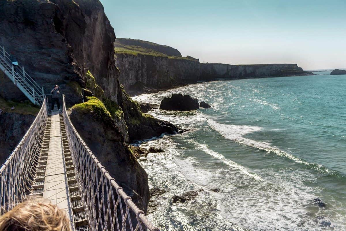 The View from the Carrick-a-Rede Rope Bridge